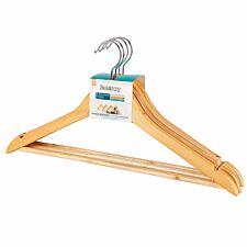 Beldray FSC Certified Wooden Hangers - Pack of 12