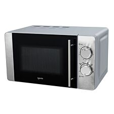 Igenix 20L 800W Manual Microwave - Stainless Steel