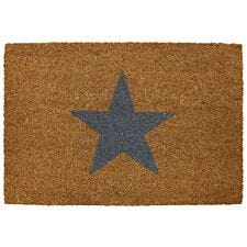 Pride of Place 40 x 60cm Astley PVC Backed Coir Doormat - Charcoal Stars