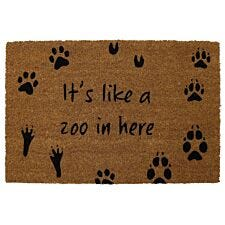 Pride of Place 40 x 60cm Astley PVC Backed Coir Doormat - Zoo