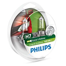 Philips LongLife EcoVision H7 Car Headlight Bulb - Twin Pack
