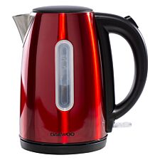 Daewoo SDA1685 Kensington 1.7L 3KW Jug Kettle – Red