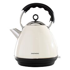 Daewoo SDA1576 Kensington 1.7L 3KW Pyramid Kettle – Cream