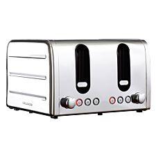 Daewoo Deauville 4-Slice Toaster - Stainless Steel