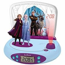 Lexibook Disney Frozen II Projector Alarm Clock with Radio