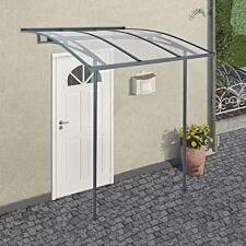Palram Vega Door Canopy - Grey/Clear