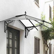 Palram Iris Door Canopy - Black/Clear