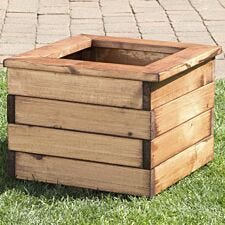 Charles Taylor Scandinavian Redwood Square Planter