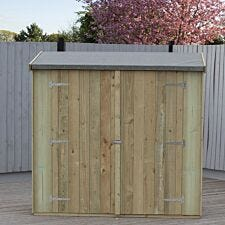 Shire 6 x 3 Pressure Treated Pent Shed/Tool Store With Double Doors