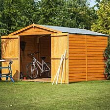Shire Overlap 10 x 8 Shed With Double Doors and No Windows