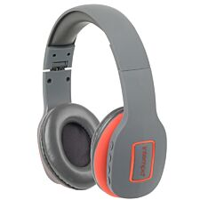 Intempo Active Wireless Bluetooth Foldable Headphones - Grey/Coral