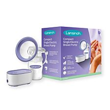 Lansinoh Compact Electric Breast Pump - Purple & White