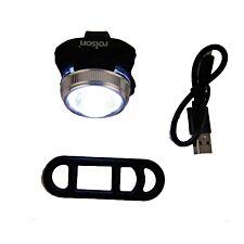 Rolson Front White COB Bike Light - USB Charging