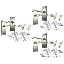Select Hardware Project Scroll Door Handle 3 Pair Pack - Satin Chrome Finish