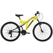 "Barracuda Draco Dual Suspension DS26 MTB, 26"" Wheel, 18 Speed Gears Mountain Bike - Yellow"
