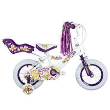 Sonic Girls Bumble 12 inch Wheel Bike - White/Purple