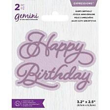 Gemini Die - Expressions - Happy Birthday