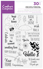 Crafter's Companion Clear Acrylic Stamps - Sweet Florals