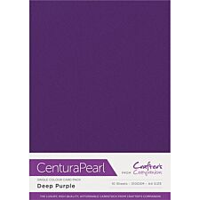 Crafter's Companion Centura Pearl Single Colour A4 10 Sheet Pack - Deep Purple