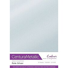 Crafter's Companion Centura Pearl Metallic A4 Single Colour 10 Sheet Pack - Silver