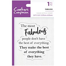 Crafter's Companion Clear Acrylic Stamps - Fabulous