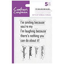 Crafter's Companion Clear Acrylic Stamps - I'm Smiling Because
