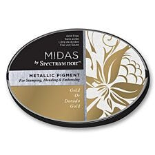 Midas by Spectrum Noir Metallic Pigment Inkpad - Gold