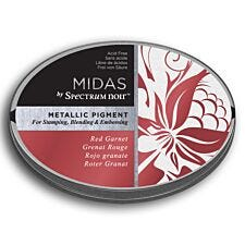Midas by Spectrum Noir Metallic Pigment Inkpad - Red Garnet