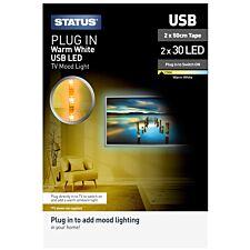 Status Warm White USB LED TV Mood Light