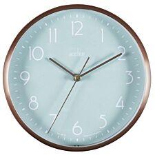 Acctim 'Ava' 15cm Metal Wall/Desk Clock -  Copper/Mint