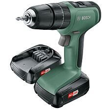 Bosch UniversalImpact 18V Combi Drill with Two Lithium-ion Batteries and Carry Case