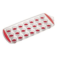KitchenCraft Colourworks Flexible Pop Out Ice Cube Tray - Red