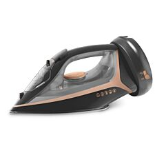 Beldray 2600W 2-in-1 360 Cordless Iron - Black Gloss & Rose Gold