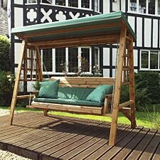 Charles Taylor Dorset Three Seat Swing with Cushions and Fitted Canopy