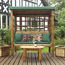 Charles Taylor Bramham Three Seat Arbour with Roof Cover and Cushions