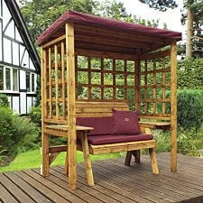 Charles Taylor Wentworth Two Seat Arbour with Roof Cover and Cushions