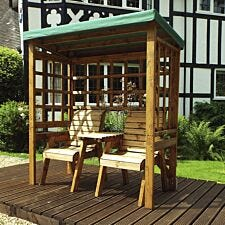 Charles Taylor Henley Twin Seat Arbour with Roof Cover and Cushions