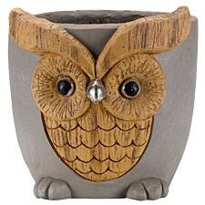Smart Garden Woodstone Owl Planter