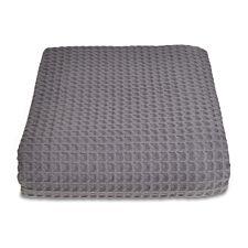 Allure Sedona 225 x 250 Waffle Throw - Grey