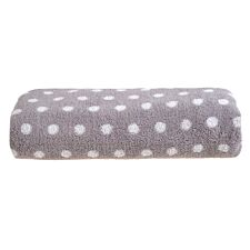 Allure Spots Bath Sheet - Grey