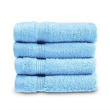 Allure Zero Twist 4 Pack Face Cloths - Baby Blue