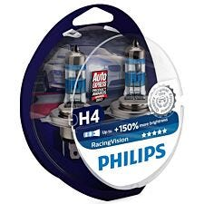 Philips RacingVision H4 Bulb Twin Pack