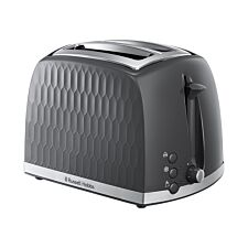 Russell Hobbs 26063 Honeycomb Textured 850W 2–Slice Toaster – Grey