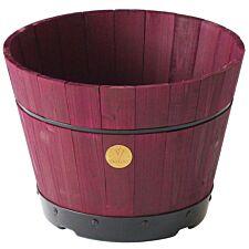 VegTrug Small 37cm Barrel Tapered Planter - Burgundy
