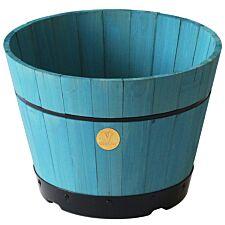 VegTrug Small 37cm Barrel Tapered Planter - Powder Blue