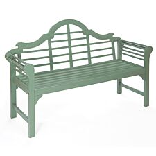 Greenhurst PU Painted Lutyens Bench - Blade Green