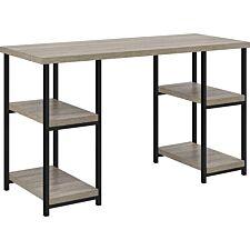 Dorel Elmwood Double Pedestal Desk - Grey Oak