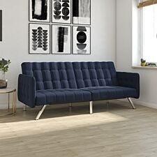 Dorel Emily Convertble Sofa  - Navy Blue Linen
