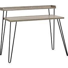 Dorel Haven Retro Desk with Riser - Grey Oak