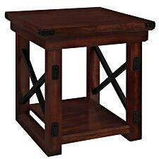 Dorel Wildwood Wood Veneer End Table - Espresso
